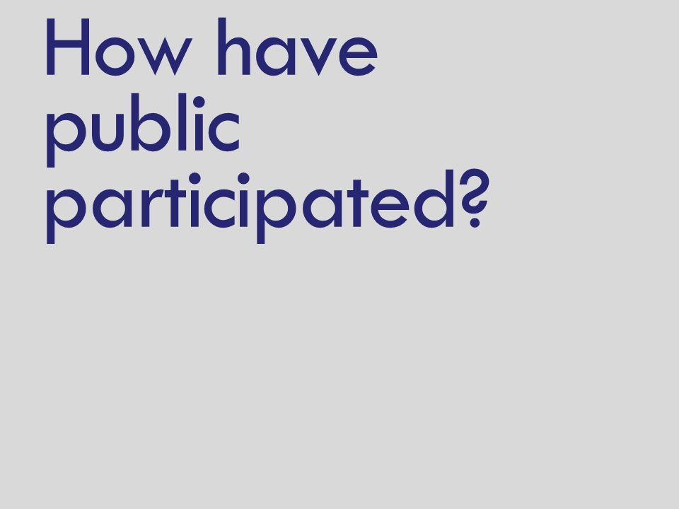 How have public participated?