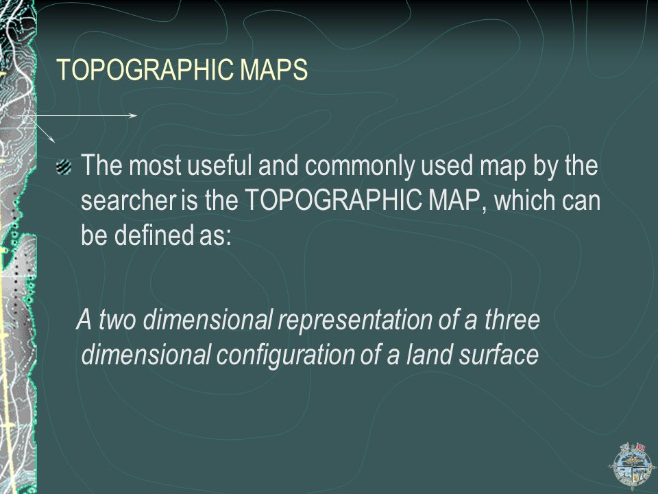 TOPOGRAHIC MAPS Advantages of a Topographic Map Represent physical features of the earths surface without distortion Made to scale,which means there is a ratio of the distance on the map to the actual distance on the ground