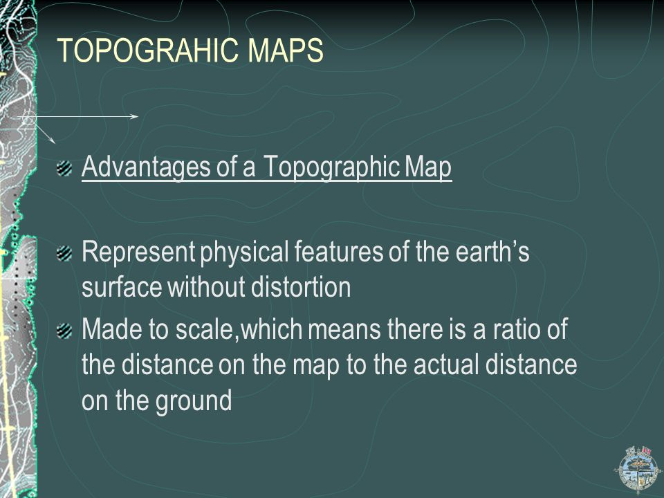 MAP CONVENTION TOPOGRAPHIC CONTOURS A map is prepared on a flat (2-D) paper but the surface it represents has three dimensions.