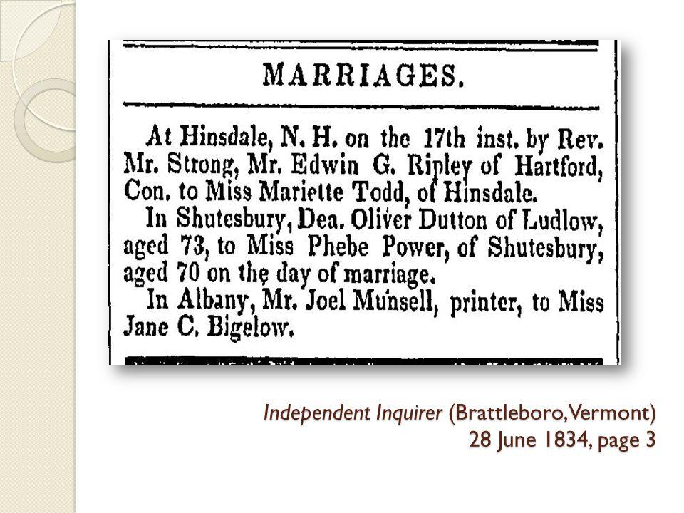 Independent Inquirer (Brattleboro, Vermont) 28 June 1834, page 3