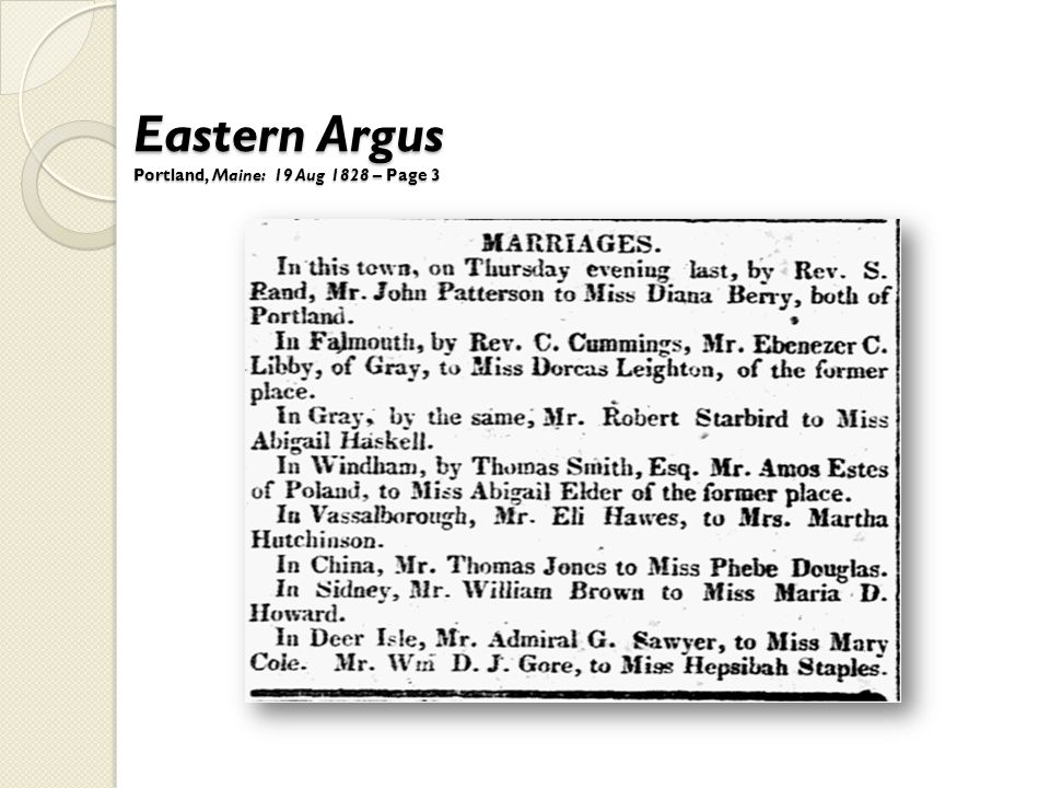 Eastern Argus Portland, Maine: 19 Aug 1828 – Page 3