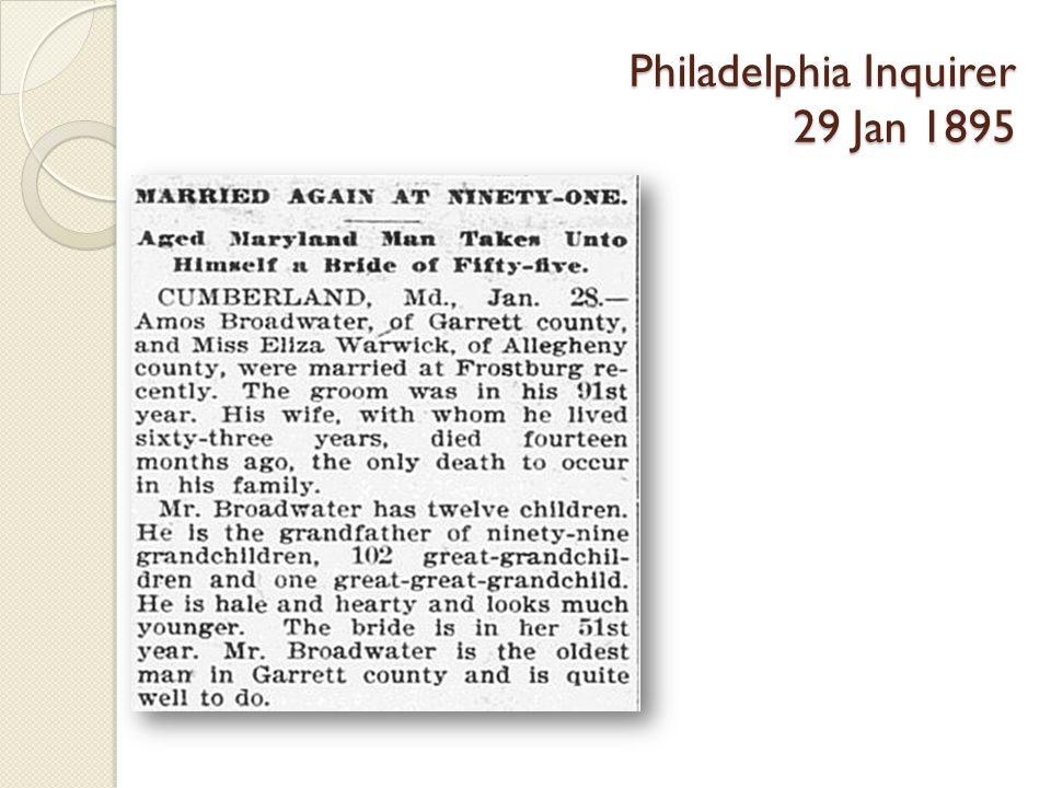Philadelphia Inquirer 29 Jan 1895