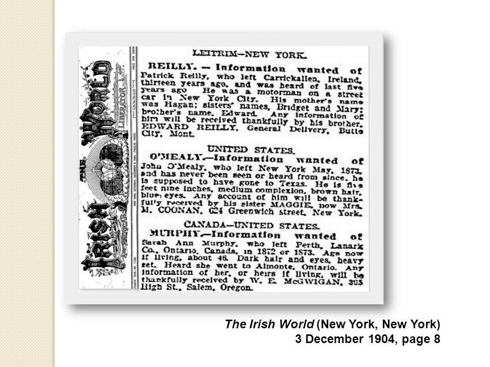 The Irish World (New York, New York) 3 December 1904, page 8