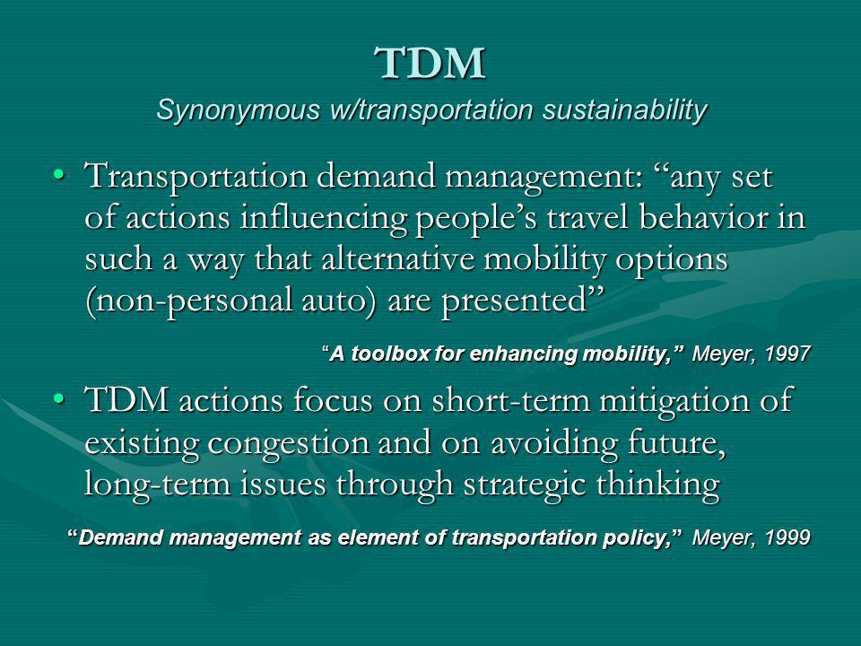 Reprogramming Default Of 10 worst Intl per-capita energy-use cities, nine American In the worlds worst driving city Atlanta, Georgia Henry & Gordon, Driving less for better air, 2003 Newman & Kinsworthy, Sustainability and Cities, 1999 Ozone Alerts reduce individual driving Down 3.6 mile/day Reduce it significantly if employer program Down 11.6 mile/day