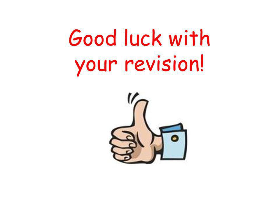 Good luck with your revision!