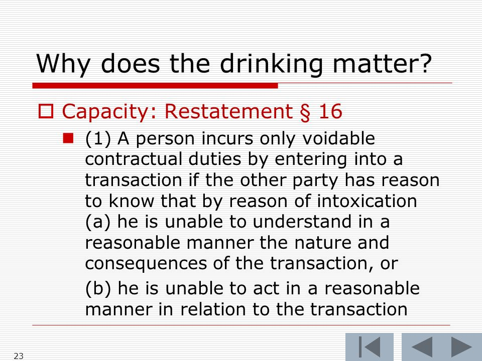 Why does the drinking matter.