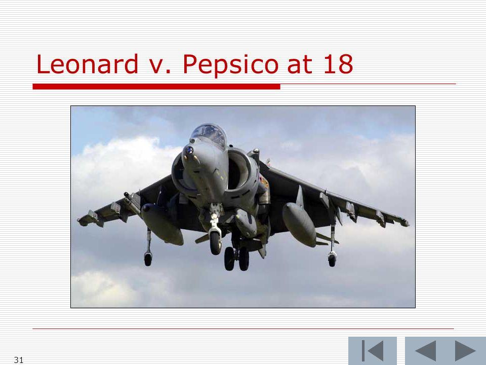 Leonard v. Pepsico at 18 31