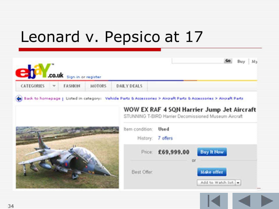 Leonard v. Pepsico at 17 34
