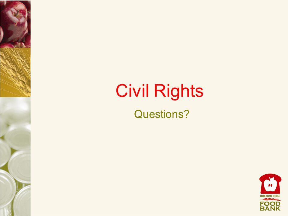 Civil Rights Questions?