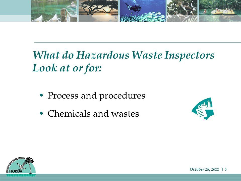 Waste Determination Failure to perform hazardous waste determination and/or Failure to perform a proper waste determination October 28, 2011   6