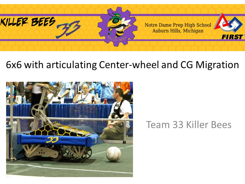 6x6 with articulating Center-wheel and CG Migration Team 33 Killer Bees