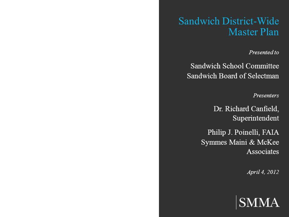 Sandwich District-Wide Master Plan Presented to Sandwich School Committee Sandwich Board of Selectman Presenters Dr. Richard Canfield, Superintendent