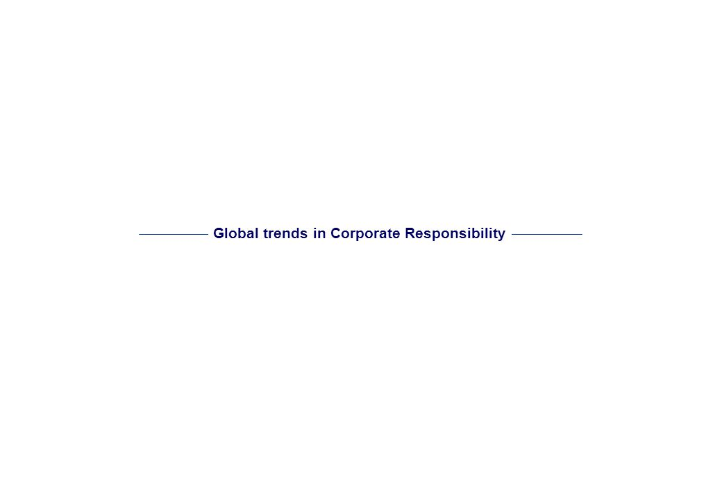 - 1 - Agenda Global trends in Corporate Responsibility 2 CR development evaluation 8 Deloittes approach to CR strategy building process 14 Benefits fo