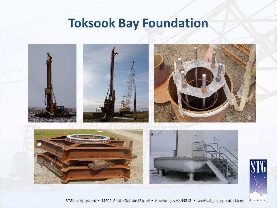 STG Incorporated 11820 South Gambell Street Anchorage, AK 99515 www.stgincorporated.com Toksook Bay Foundation