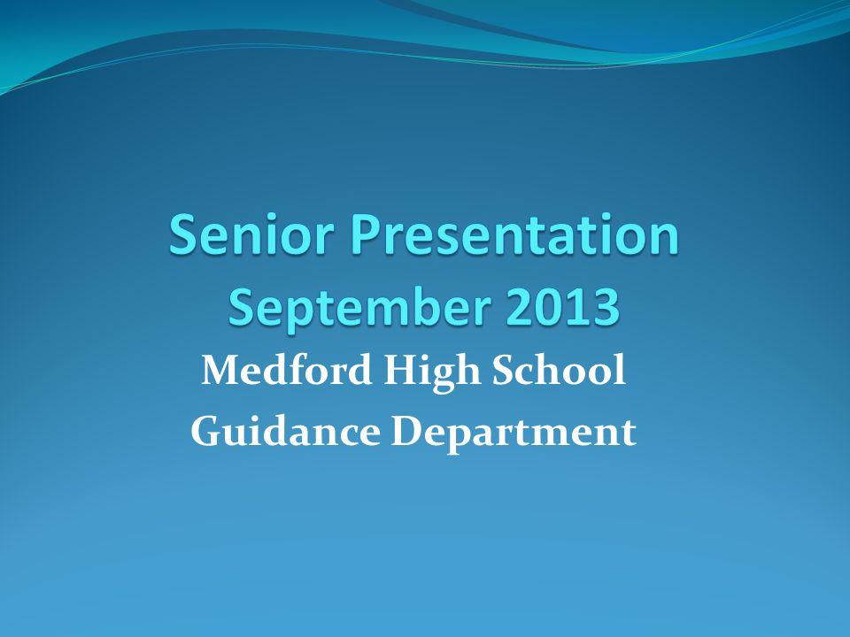 Medford High School Guidance Department
