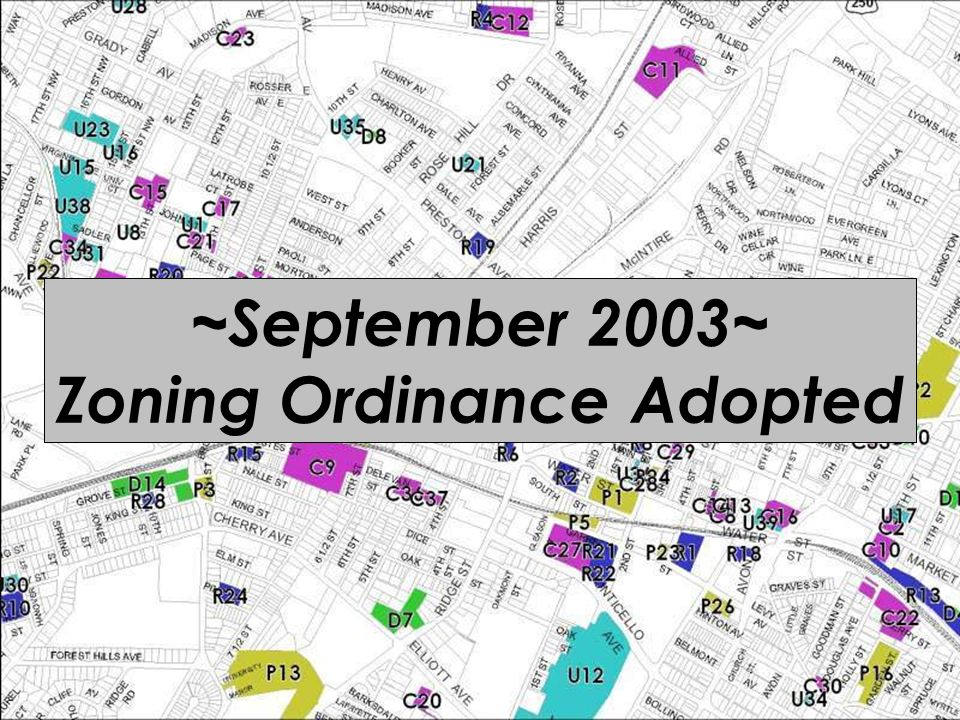 ~September 2003~ Zoning Ordinance Adopted