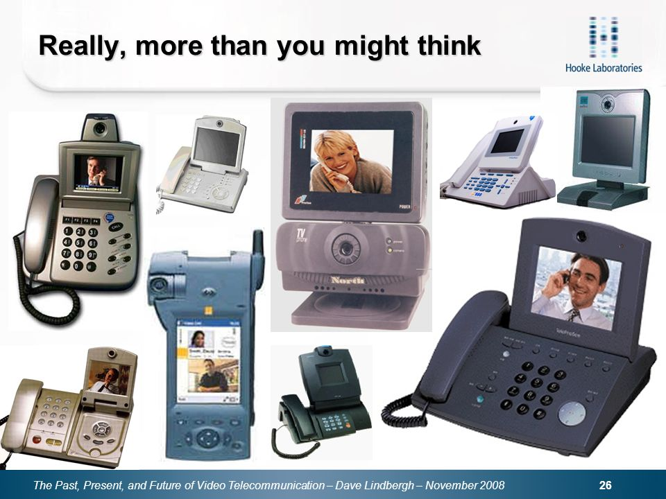 The Past, Present, and Future of Video Telecommunication – Dave Lindbergh – November 2008 26 Really, more than you might think