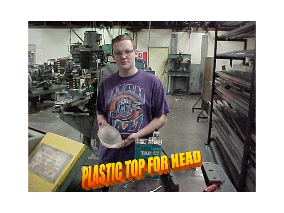 Holding plastic top