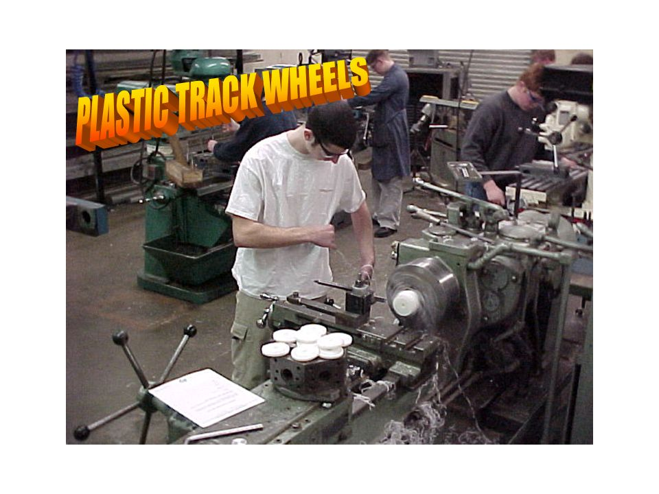 Plastic wheel making-lathe