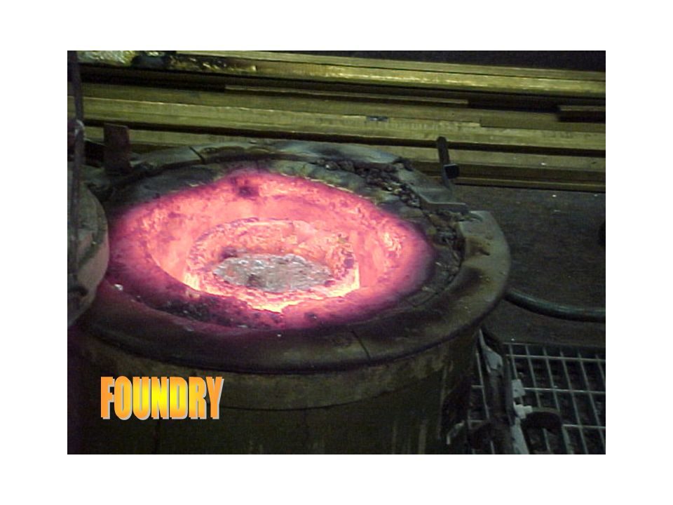 Melting metal in foundry