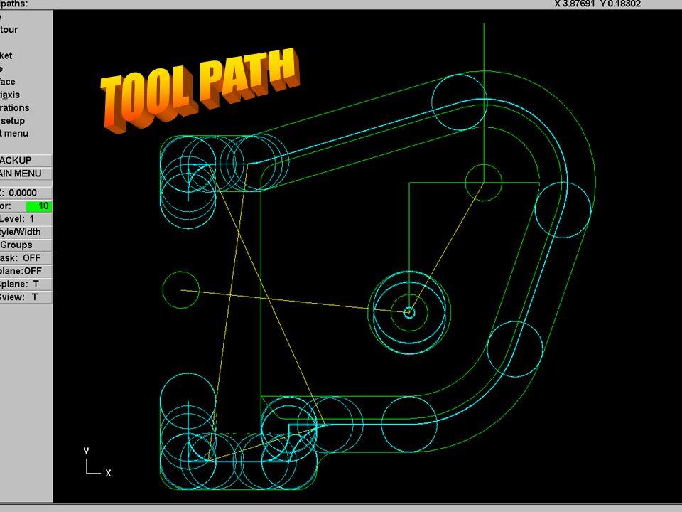 Mastercam tool path