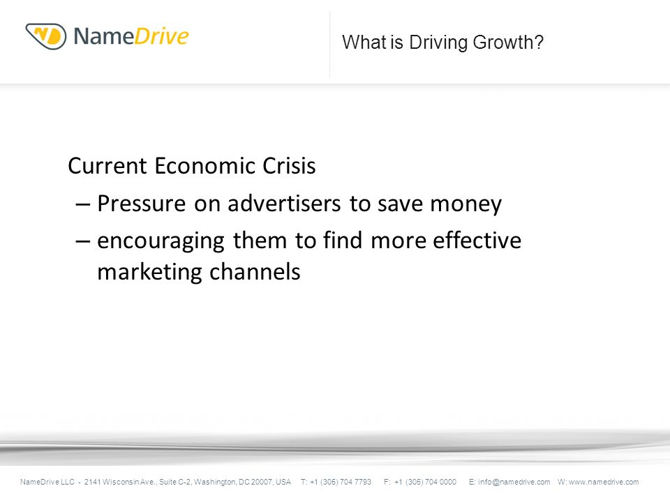What is Driving Growth.