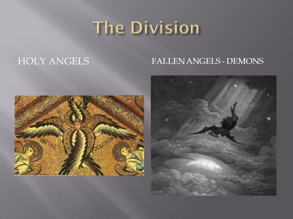 HOLY ANGELS FALLEN ANGELS - DEMONS