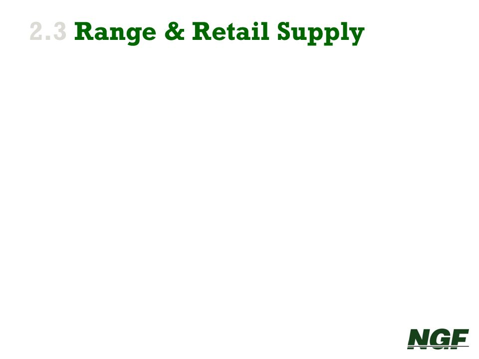 2.3 Range & Retail Supply
