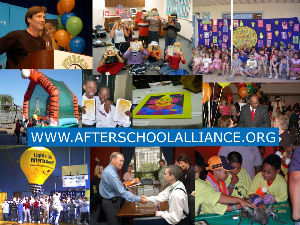 www.afterschoolalliance.org WWW.AFTERSCHOOLALLIANCE.ORG