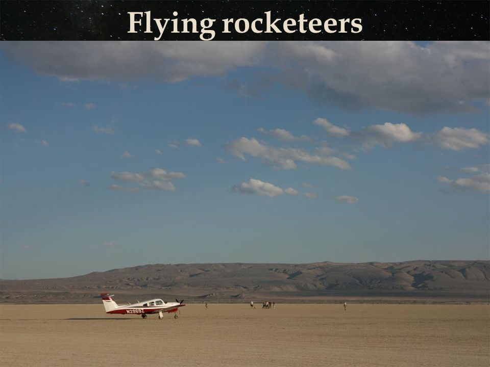 Flying rocketeers