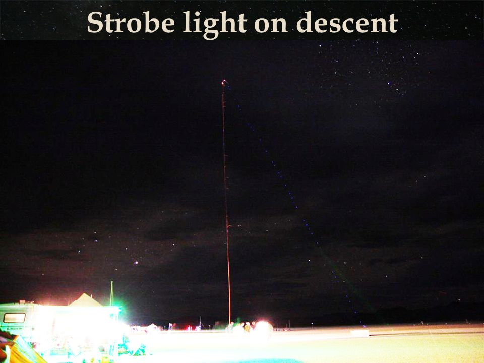 Strobe light on descent
