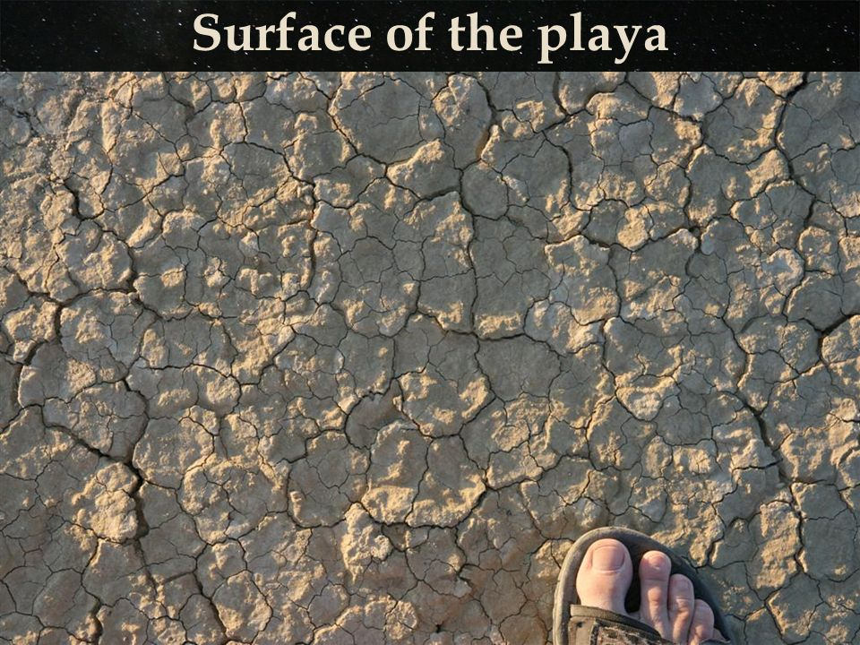 Surface of the playa