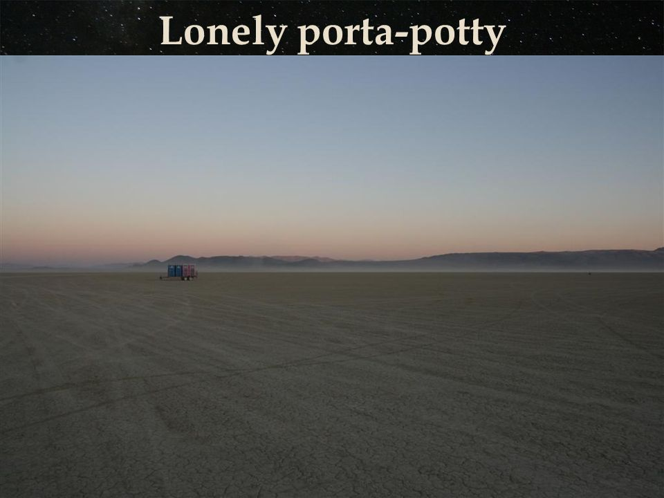 Lonely porta-potty