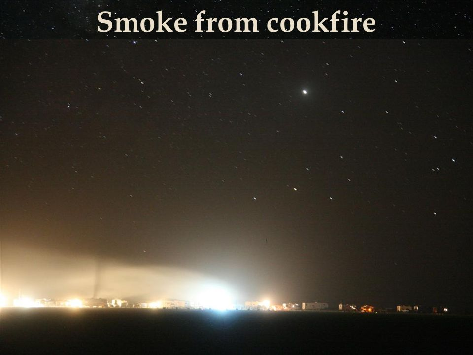 Smoke from cookfire