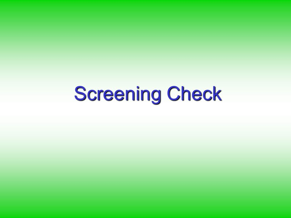 Screening Check