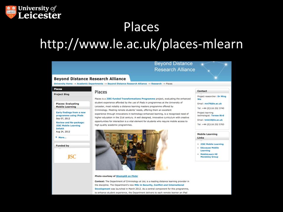Places http://www.le.ac.uk/places-mlearn