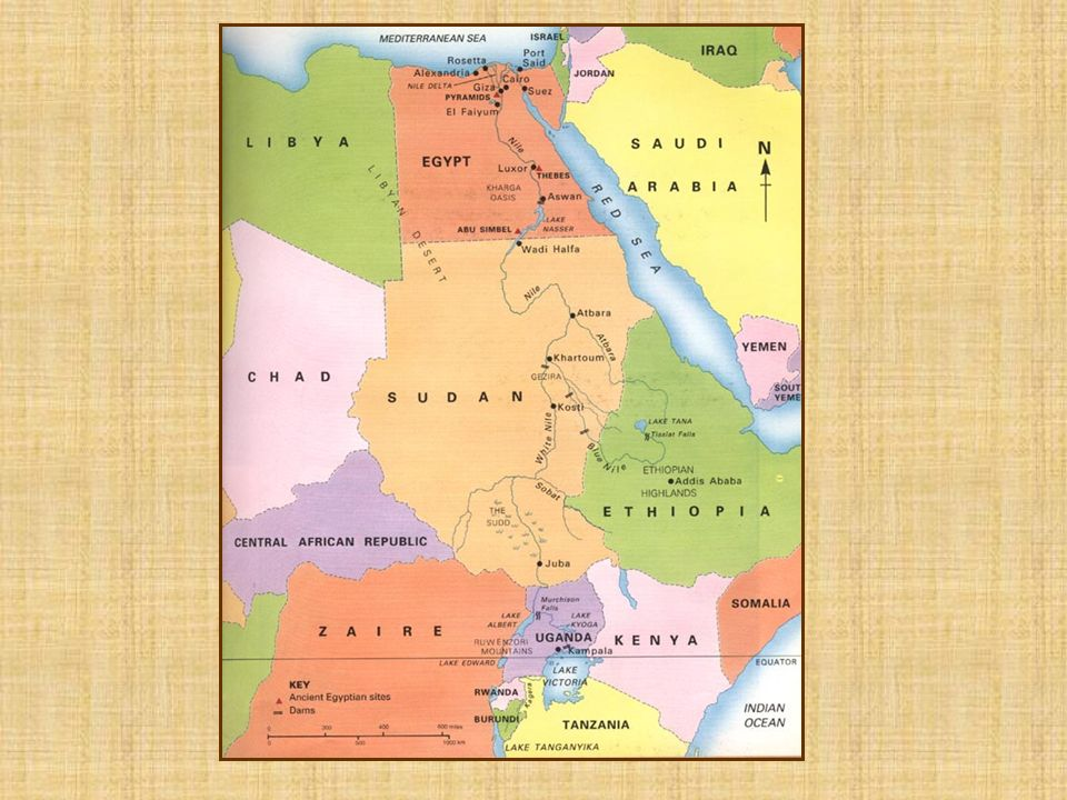 The Nile River The Nile was the lifeblood of ancient Egypt It made life possible in the otherwise barren desert of Egypt. It is the longest river in t