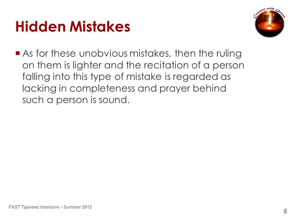 6 Mistakes in Tajweed (Lahn لحن ) What does لحن mean.