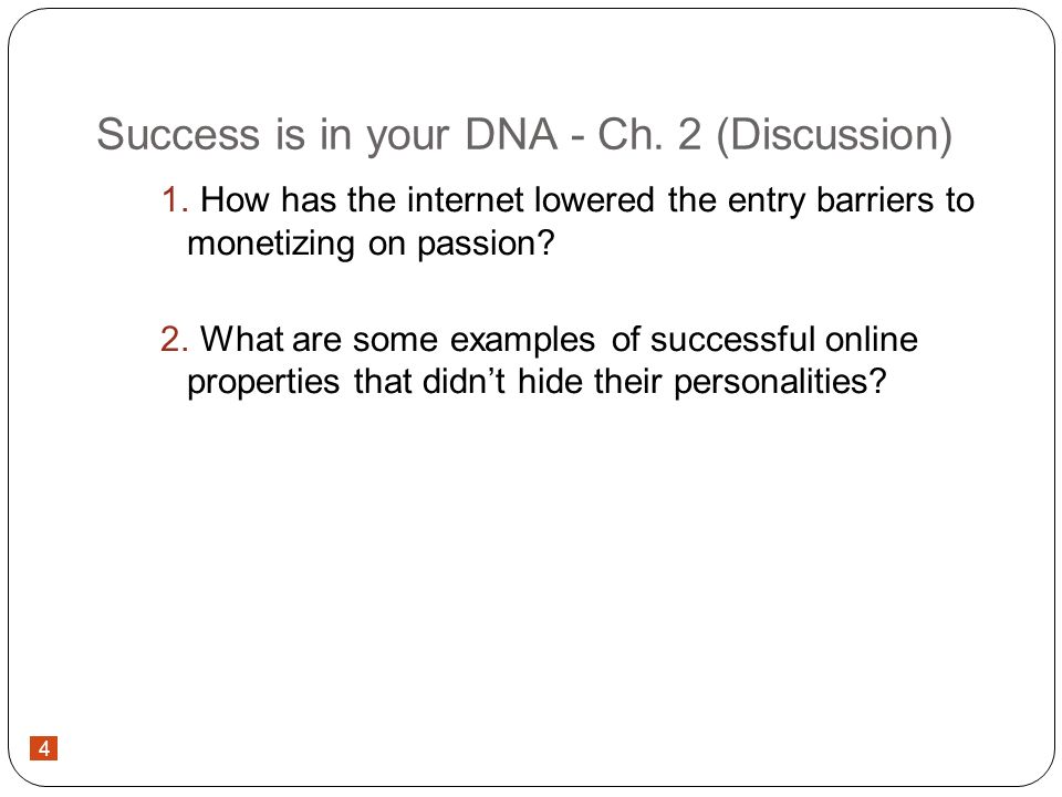 4 Success is in your DNA - Ch.