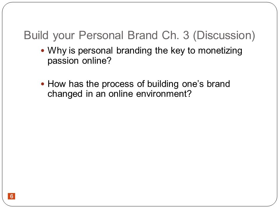 6 Build your Personal Brand Ch.