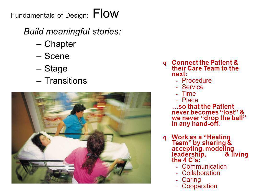 Fundamentals of Design: Engage Trigger: –Impressions Concepts Symbols –Physical elements The five senses Memorabilia –Behaviors What Who Where When q