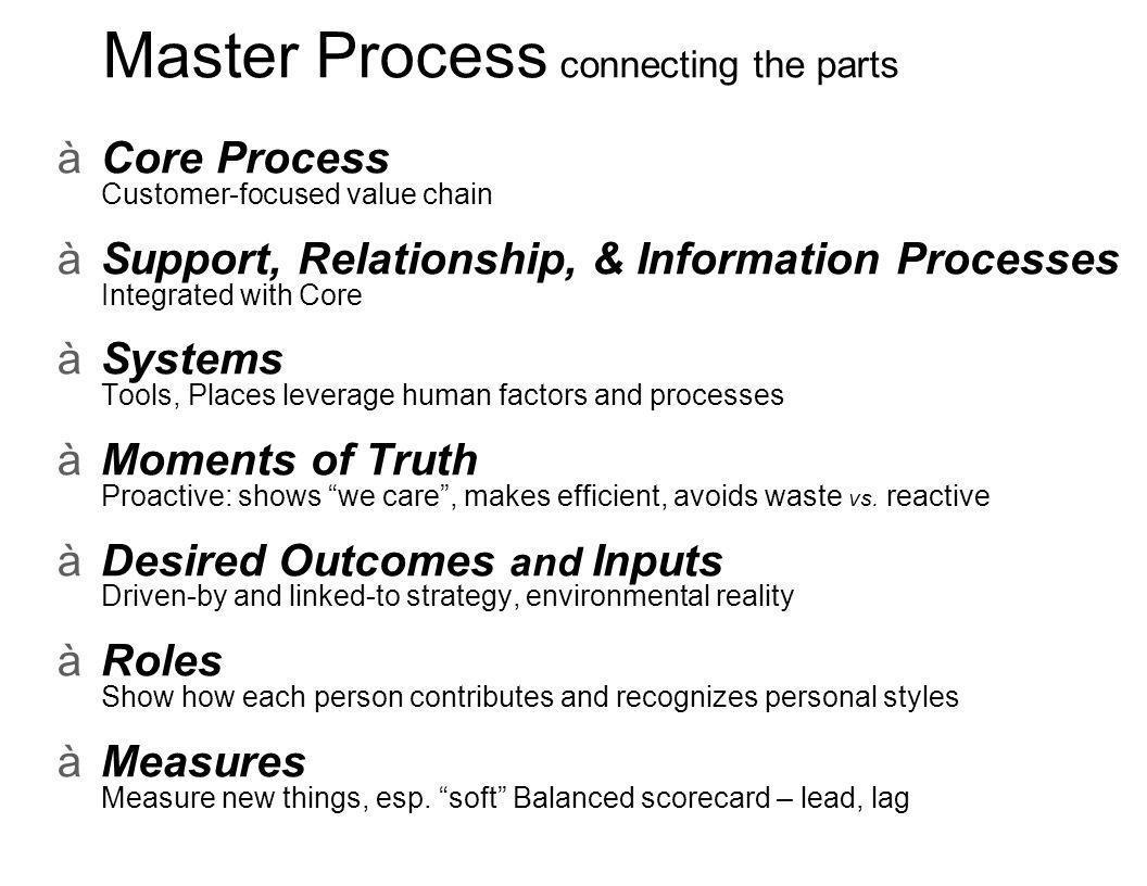 Community-scale Master Process