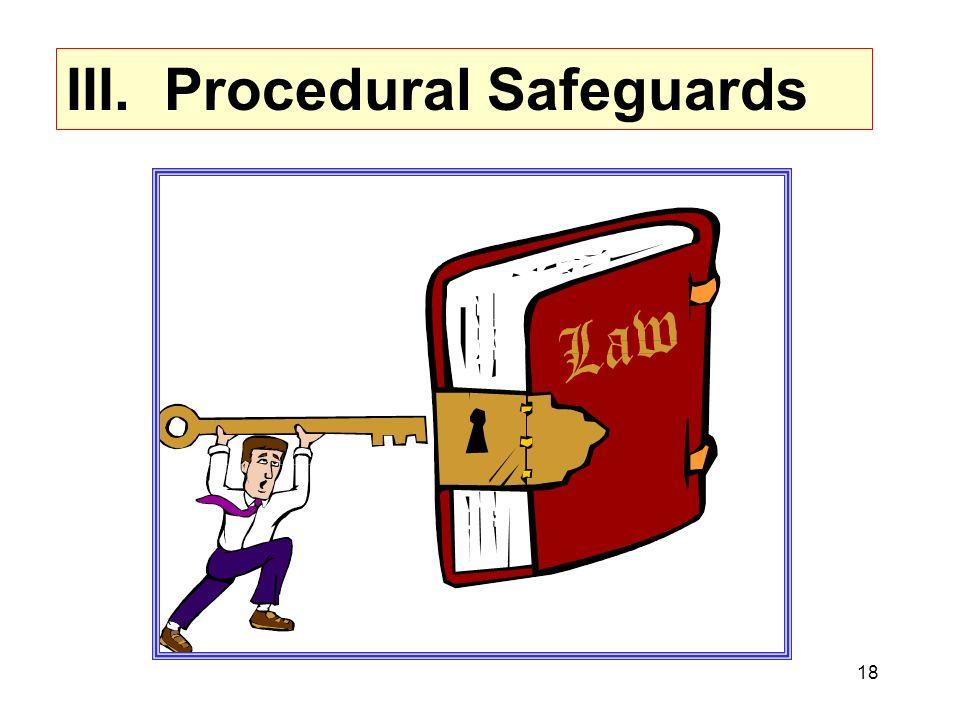 18 III. Procedural Safeguards