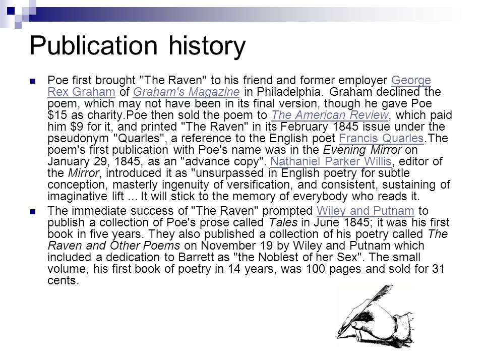 Publication history Poe first brought