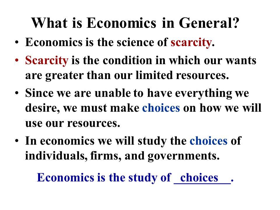 Unit I: Basic Economic Concepts