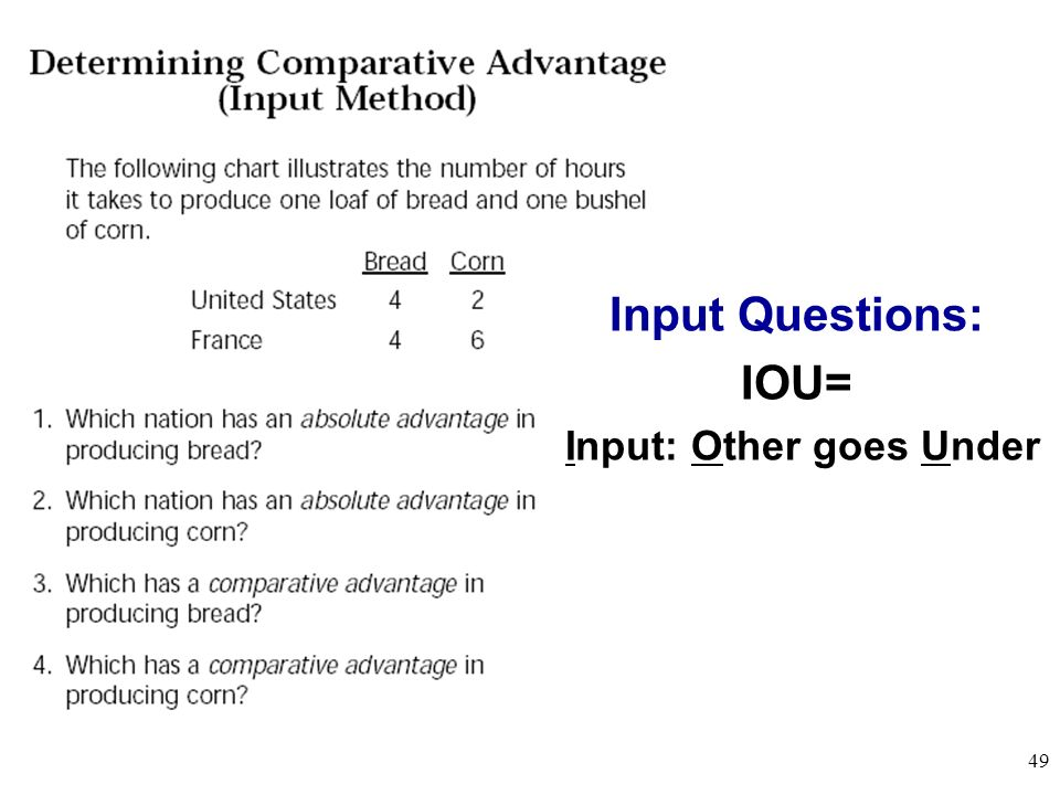 Output Questions: OOO= Output: Other goes Over 48