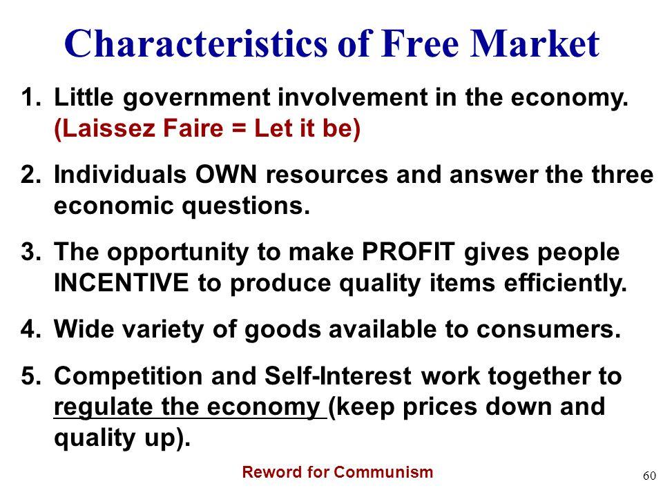 Free Market System (aka Capitalism) 59