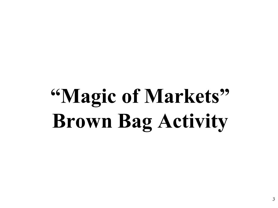 Magic of Markets Brown Bag Activity 3