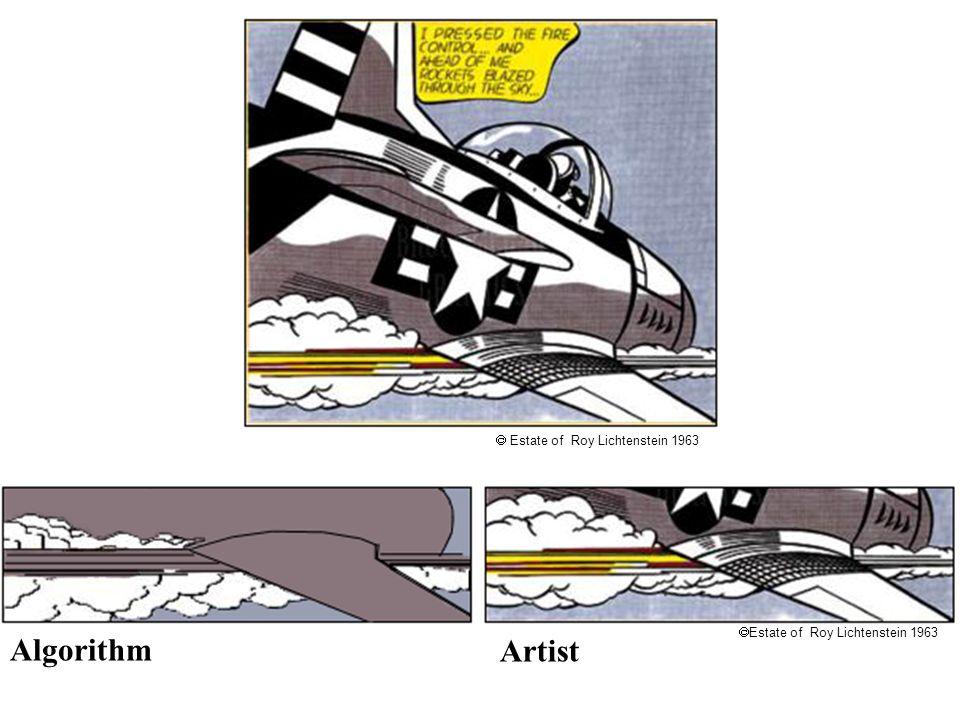 Lichtenstein Estate of Roy Lichtenstein 1963 Artist Algorithm