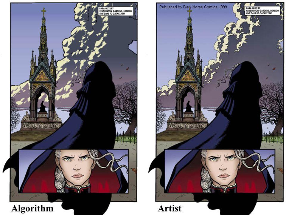 Comparison Published by Dark Horse Comics 1999 AlgorithmArtist
